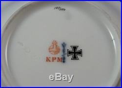 Antique KPM Berlin Porcelain WWI Iron Cross Cup & Saucer Porzellan Tasse German