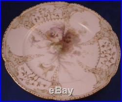 Antique KPM Berlin Porcelain Weichmalerei Floral Plate Porzellan Teller German
