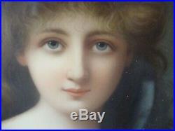 Antique KPM Berlin Portrait Porcelain Plaque Painting