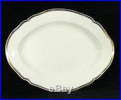 Antique KPM Berlin White Porcelain Dinner Set, 48 pcs
