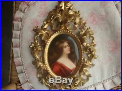 Antique KPM Dresden Nude Portrait Porcelain Plaque Painting Asti