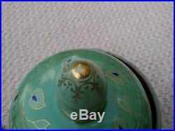 Antique KPM German Porcelain Urn 14.5H Pre 1918 Orb & Cross Ink Stamp Original