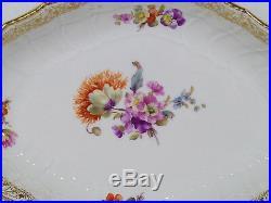 Antique KPM Germany Berlin Porcelain Serving Dish 10 1/8