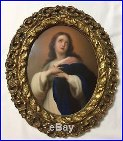 Antique KPM Germany Hand Painted Porcelain Plaque The Immaculate Conception