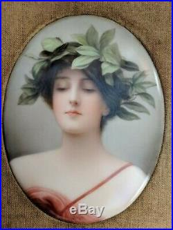 Antique KPM Germany Porcelain Plaque