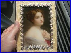 Antique KPM Germany Porcelain Plaque Wagner