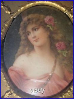 Antique KPM Germany Porcelain Plaque Wagner
