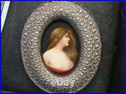 Antique KPM Germany Porcelain Plaque Wagner Asti