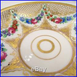 Antique KPM Germany Small Porcelain Plate Hand Painted, Gold Gilded & Signed
