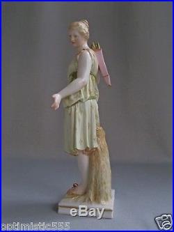 Antique KPM Greek Roman Goddess Luna Artemis Diane German porcelain figure