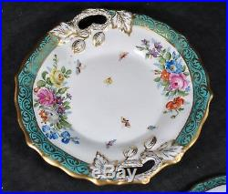 Antique KPM Kristef porcelain TUREEN withunderplate-BEAUTIFUL-hand painted