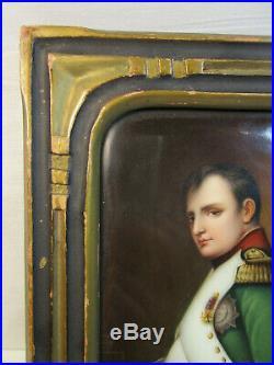 Antique KPM Napoleon Porcelain Plaque by Wagner # 605