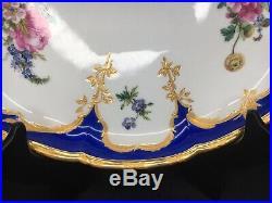Antique KPM Neuzierat Porcelain Oval Serving Tray Platter Berlin Germany