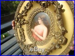 Antique KPM Plaque Hand Painted Porcelain Wagner