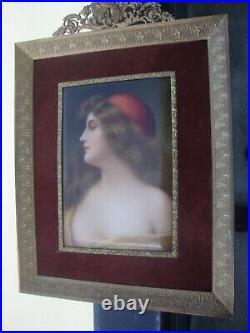 Antique KPM Plaque Hutschenreuther Asti Wagner