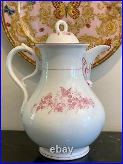 Antique KPM Porcelain Extra Large Coffee Pot 8 Cup