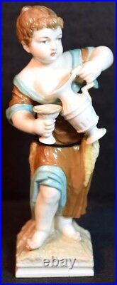 Antique KPM Porcelain Figure of a Girl Pouring Wine