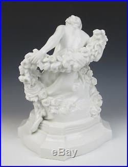 Antique KPM Porcelain Figurine Flora Paul Schley 1910 German Art Nouveau Nude