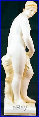 Antique KPM Porcelain Figurine Nude Lady After the Bath Well Marked