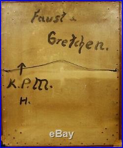 Antique KPM Porcelain Hand Painted Plaque Faust Gretchen