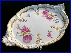 Antique KPM Porcelain Neuzierat 14 Oval Serving Tray Platter Berlin Germany