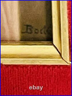 Antique KPM Porcelain Plaque Le Secret Artist Signed 19c