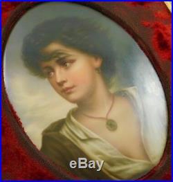 Antique KPM Porcelain Plaque Neapolitan Boy Paul Richter Germany Hand Painted NR