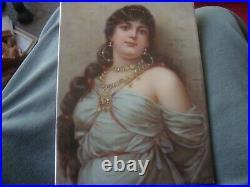Antique KPM Porcelain Plaque Persian Lady Portrait
