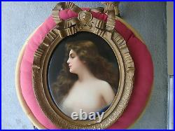 Antique KPM Porcelain Plaque Wagner