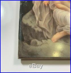 Antique KPM Porcelain Plaque Wagner Signed Hand Painted 3 Women