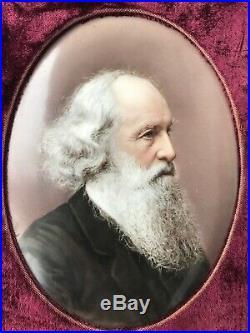 Antique KPM Porcelain Portrait Plaque Hand Painted by Josef Ahne 7 Bearded Man