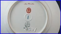 Antique KPM Porcelain Portrait Plate Miss Hamilton Dog Signed Friedrich