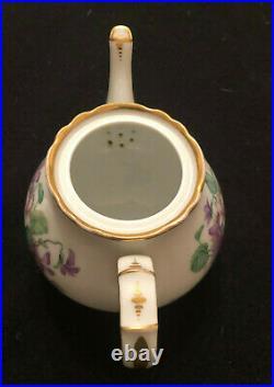 Antique KPM Porcelain Teapot with Hand Painted Floral Pattern