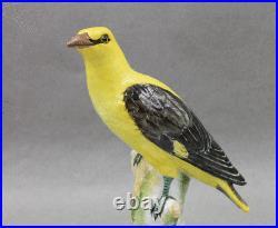 Antique KPM Royal Berlin Porcelain BIG Yellow Bird Oriole Figurine 8 ¼