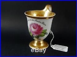 Antique KPM Royal Berlin Porcelain Cabinet Cup German Inscription 19th Century