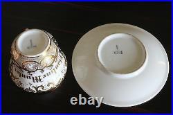 Antique KPM Royal Porcelain Factory Berlin Germany PAULINE MUNTER Cup & Saucer
