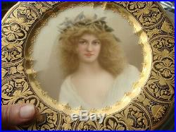 Antique KPM Royal Vienna Porcelain Portrait Plate