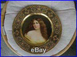 Antique KPM Royal Vienna Porcelain Portrait Plate Wagner