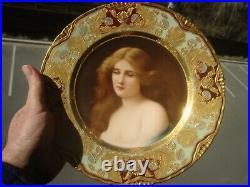 Antique KPM Royal Vienna Porcelain Wagner Portrait Plate