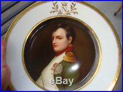 Antique KPM Royal Vienna Sevres Porcelain Portrait Plate