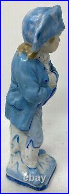 Antique KPM Style Berlin Germany Porcelain Figurine Blue Sailor