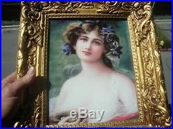 Antique KPM Style Germany Porcelain Plaque
