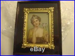 Antique KPM Style Porcelain Portrait Plaque