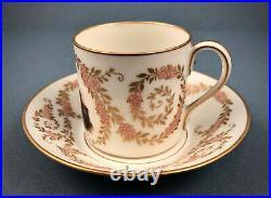Antique KPM Tea Cup & Saucer, Scenic, Jeweled