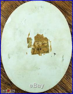 Antique KPM Type Porcelain La Trouble Plaque Hand Painted Pristine 5x4