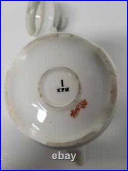 Antique KPM krister Porcelain Teapot with Hand Painted Floral Pattern