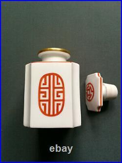 Antique KPM porcelain tea caddy / jar, 19thC
