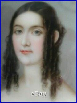 Antique Kpm Berlin Dresden Porcelain Plaque Of A Young Female Signed Frans Till
