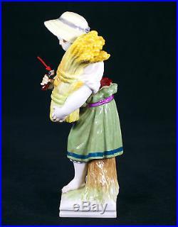 Antique Kpm Berlin Germany Porcelain Figurine Of Young Reaper /harvester