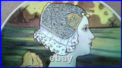 Antique Kpm Berlin Porcelain Charger Royalty Dutch Queen Wilhelmina Paul Berthon